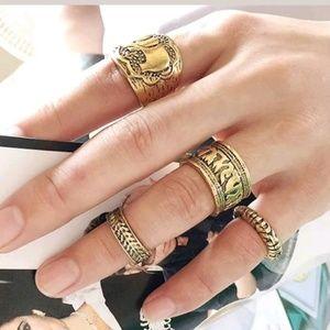 Boho 4 piece ring set